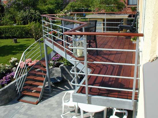 Altan og altaner. Eksklusive altaner i galvaniseret stål.