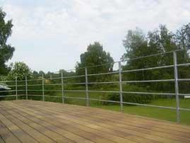 galvaniseret gelænder til terrasse